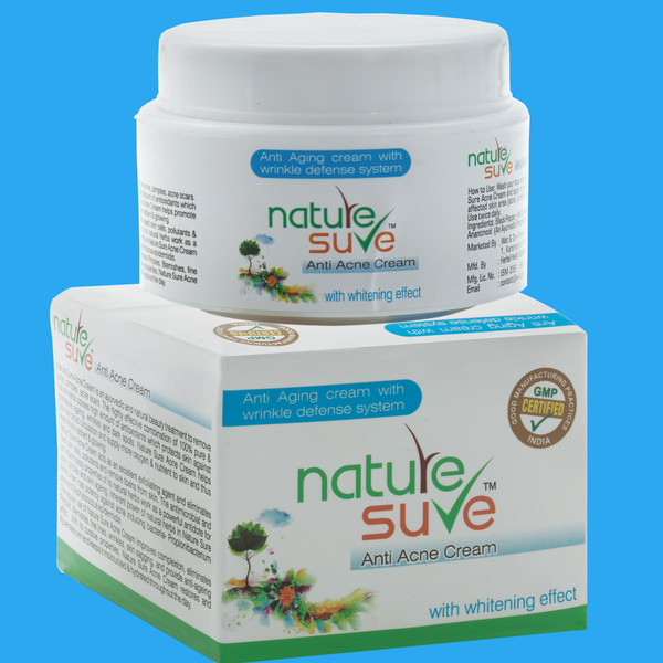 Nature Sure natural personal care products brand anti acne cream