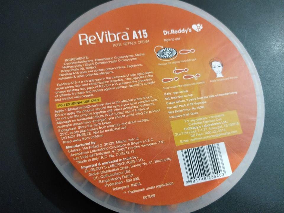 Dr. Reddy's Revibra A15 Pure Retinol Cream Review