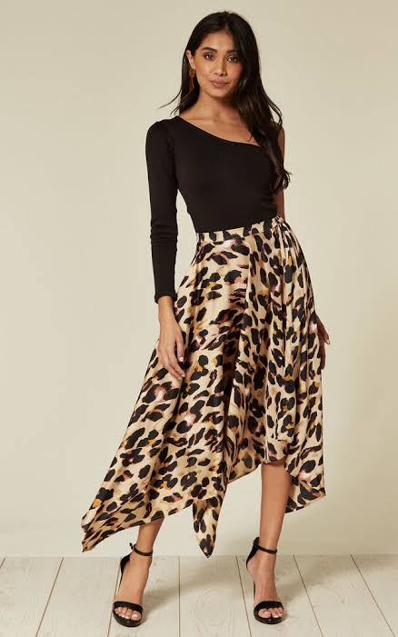 animal print tulle skirt