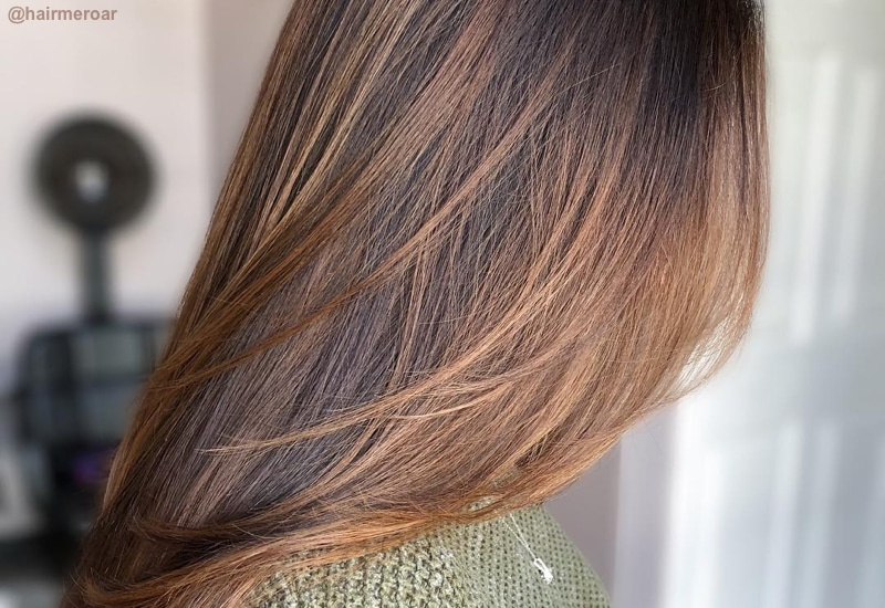 sweet caramel hair colour to boost mood