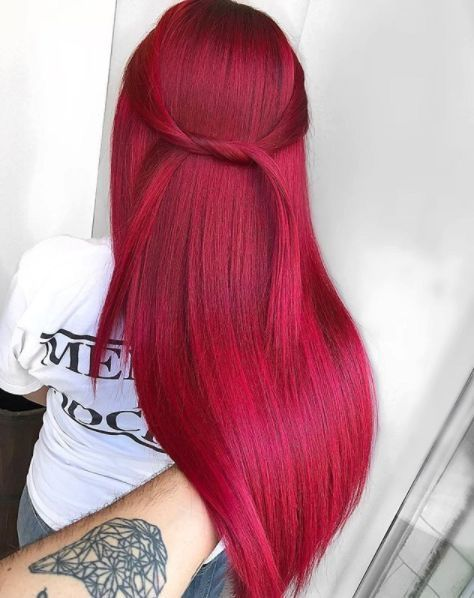 cherry red hair colour to boost mood