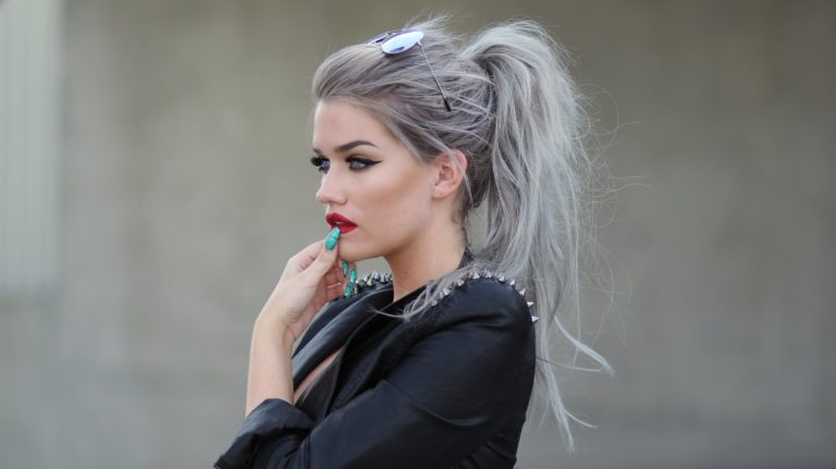 silver style hair color to boost mood