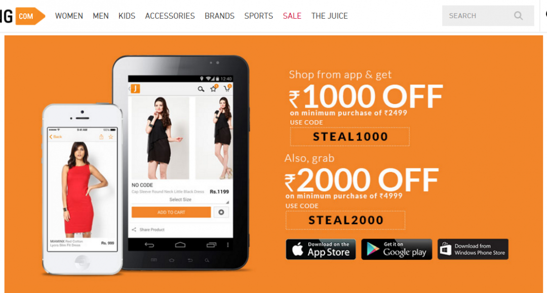Shopping Experience with Jabong Mobile Shopping App