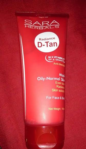 Sara Herbals Radiance D-Tan Face Mask Review