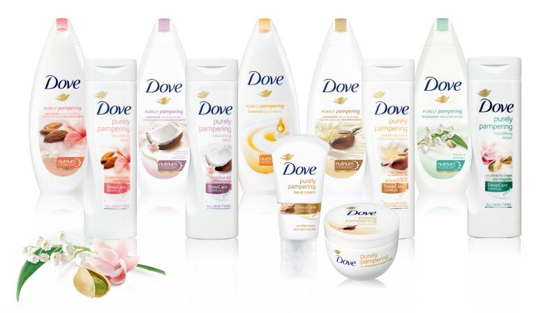 Dove Purely Pampering Almond Cream & Hibiscus Body Wash and Lotion