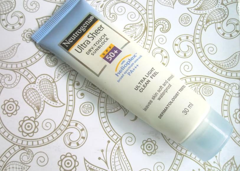 Neutrogena Ultra Sheer Dry-Touch Sun block SPF 50+ Review